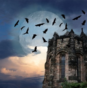 Mystery gothic castle Edinburgh